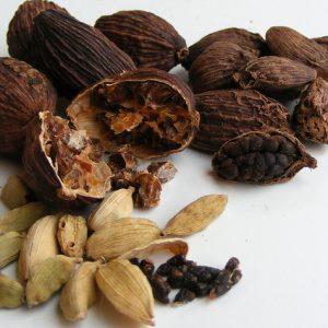 Thảo quả dùng làm thuốc kích thích tiêu hóa, chữa đau bụng...
