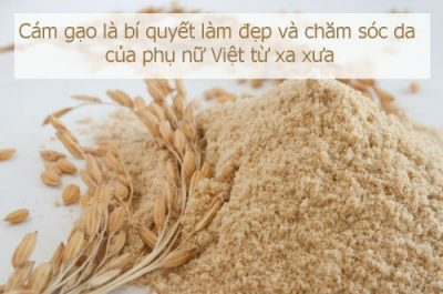Bột cám gạo có tác dụng làm trắng da, mịn da, xóa mờ vết thâm